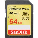 SanDisk 64GB Extreme Plus UHS-I SDXC Memory Card (Class 10)