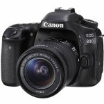 Canon EOS 80D DSLR Camera W/ 18-55mm Lens